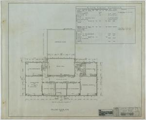 Primary view of object titled 'School Building, Kermit, Texas: Second Level Plan and Finish Schedule'.