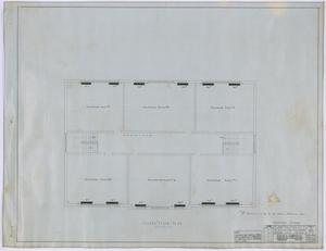 Primary view of object titled 'High School, Knox City, Texas: Second Story Heating Plan'.