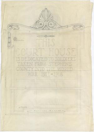 Primary view of object titled 'Breckenridge Courthouse: Sign'.