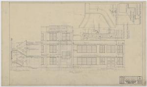 Primary view of object titled 'Iraan High School Addition: Rear Elevation'.