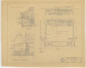 Primary view of object titled 'High School Gymnasium Repairs, Paint Rock, Texas: Floor Plan'.