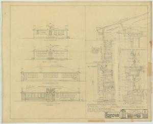 Primary view of object titled 'School Building, Hamlin, Texas: Elevations and Drawings'.