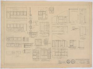 Primary view of object titled 'School Building, Spur, Texas: Cabinet and Shower Details'.