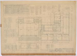 Primary view of object titled 'School Building, Spur, Texas: Floor Plan and Schedules'.
