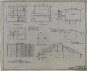 Primary view of object titled 'Abilene Hotel: Penthouse Framing Plans'.
