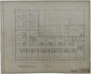 Primary view of object titled 'Abilene Hotel: Sample Room Floor Plan'.