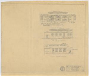 Primary view of object titled 'High School Gymnasium Repairs, Paint Rock, Texas: Elevations'.