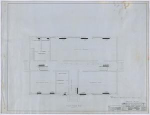 Primary view of object titled 'High School, Knox City, Texas: First Story Heating Plan'.