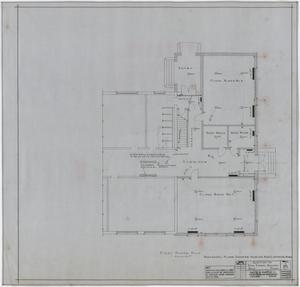 Primary view of object titled 'High School Building Addition, Rule, Texas: First Floor Plan'.
