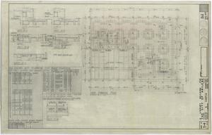 Primary view of object titled 'Abilene Public Library, Abilene, Texas: Roof Framing Plan'.