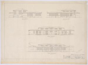 Primary view of object titled 'High School Building, Paint Rock, Texas: Elevations'.