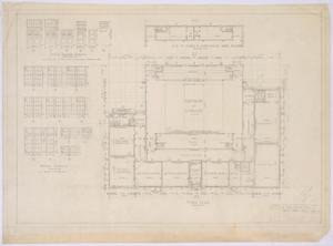 Primary view of object titled 'High School Building, Paint Rock, Texas: Floor Plans and Schedules'.