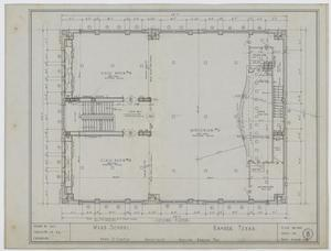 Primary view of object titled 'Ward School Building, Ranger, Texas: Second Floor Floor Plan'.