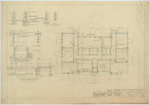 Primary view of object titled 'School Building, Ira, Texas: Foundation Plan'.