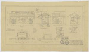 Primary view of object titled 'Proposed Walton Field Entrance, Kermit, Texas: Floor Plan and Elevation'.