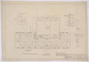 Primary view of object titled 'School Building, Pecos County, Texas: Mechanical Floor Plan'.