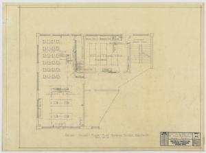 Primary view of object titled 'Iraan High School Addition: Revised Second Floor Plan Showing Science Equipment'.