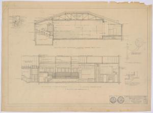Primary view of object titled 'School Building, Spur, Texas: Gymnasium Sections'.