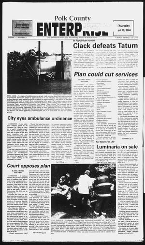 Primary view of object titled 'Polk County Enterprise (Livingston, Tex.), Vol. 122, No. 31, Ed. 1 Thursday, April 15, 2004'.