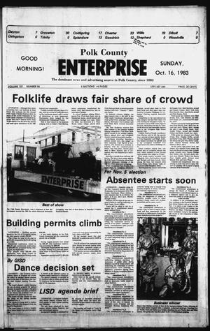 Primary view of object titled 'Polk County Enterprise (Livingston, Tex.), Vol. 101, No. 84, Ed. 1 Sunday, October 16, 1983'.