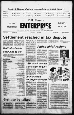 Primary view of object titled 'Polk County Enterprise (Livingston, Tex.), Vol. 101, No. 82, Ed. 1 Sunday, October 9, 1983'.