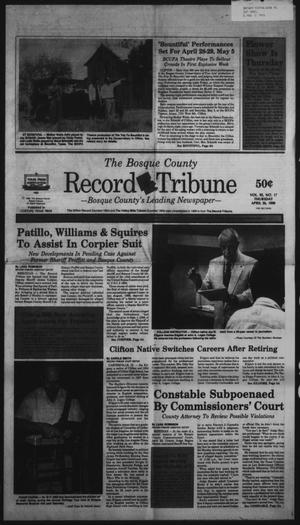 Primary view of object titled 'The Bosque County Record Tribune (Clifton, Tex.), Vol. 95, No. 17, Ed. 1 Thursday, April 26, 1990'.