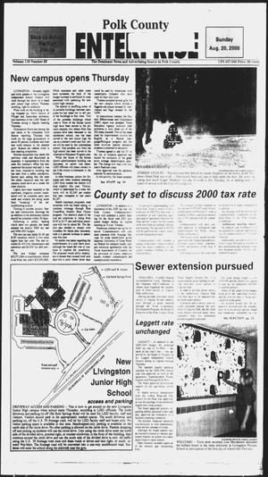 Primary view of object titled 'Polk County Enterprise (Livingston, Tex.), Vol. 118, No. 65, Ed. 1 Sunday, August 20, 2000'.