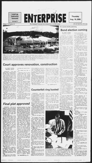 Primary view of object titled 'Polk County Enterprise (Livingston, Tex.), Vol. 118, No. 62, Ed. 1 Thursday, August 10, 2000'.
