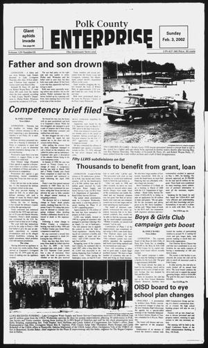 Primary view of object titled 'Polk County Enterprise (Livingston, Tex.), Vol. 120, No. 10, Ed. 1 Sunday, February 3, 2002'.