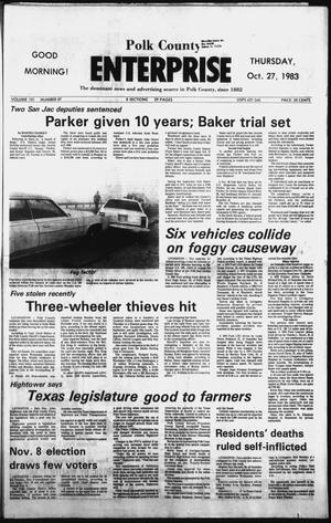 Primary view of object titled 'Polk County Enterprise (Livingston, Tex.), Vol. 101, No. 87, Ed. 1 Thursday, October 27, 1983'.