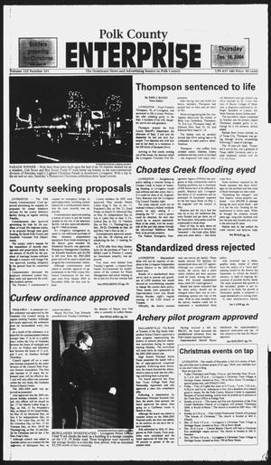 Primary view of object titled 'Polk County Enterprise (Livingston, Tex.), Vol. 122, No. 101, Ed. 1 Thursday, December 16, 2004'.
