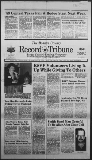 Primary view of object titled 'The Bosque County Record Tribune (Clifton, Tex.), Vol. 94, No. 32, Ed. 1 Thursday, August 10, 1989'.