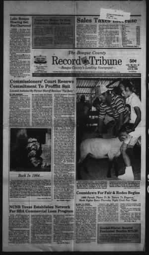 Primary view of object titled 'The Bosque County Record Tribune (Clifton, Tex.), Vol. 95, No. 27, Ed. 1 Thursday, July 5, 1990'.