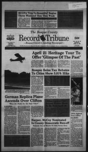 Primary view of object titled 'The Bosque County Record Tribune (Clifton, Tex.), Vol. 95, No. 16, Ed. 1 Thursday, April 19, 1990'.