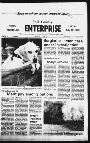 Primary view of object titled 'Polk County Enterprise (Livingston, Tex.), Vol. 101, No. 62, Ed. 1 Sunday, July 31, 1983'.