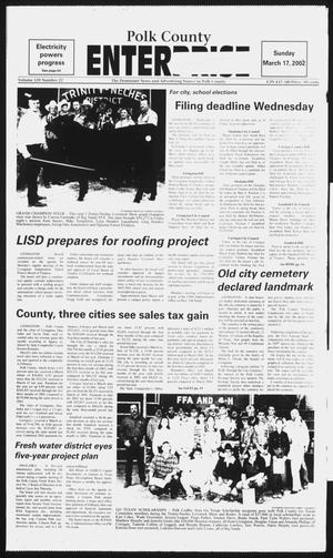 Primary view of object titled 'Polk County Enterprise (Livingston, Tex.), Vol. 120, No. 22, Ed. 1 Sunday, March 17, 2002'.