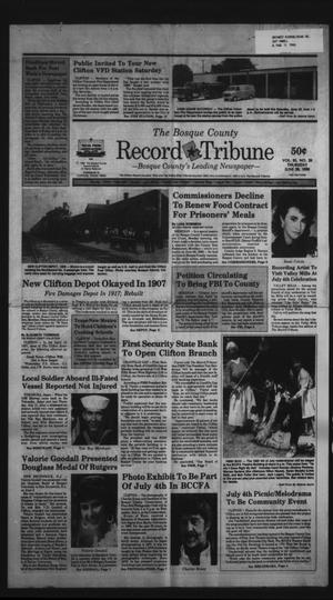 Primary view of object titled 'The Bosque County Record Tribune (Clifton, Tex.), Vol. 95, No. 26, Ed. 1 Thursday, June 28, 1990'.