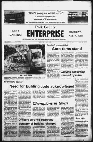 Primary view of object titled 'Polk County Enterprise (Livingston, Tex.), Vol. 101, No. 63, Ed. 1 Thursday, August 4, 1983'.