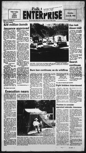 Primary view of object titled 'Polk County Enterprise (Livingston, Tex.), Vol. 116, No. 52, Ed. 1 Thursday, June 25, 1998'.