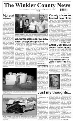 Primary view of object titled 'The Winkler County News (Kermit, Tex.), Vol. 79, No. 24, Ed. 1 Thursday, June 26, 2014'.