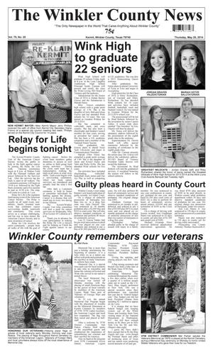 Primary view of The Winkler County News (Kermit, Tex.), Vol. 79, No. 20, Ed. 1 Thursday, May 29, 2014