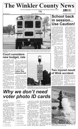 Primary view of object titled 'The Winkler County News (Kermit, Tex.), Vol. 78, No. 34, Ed. 1 Thursday, August 29, 2013'.