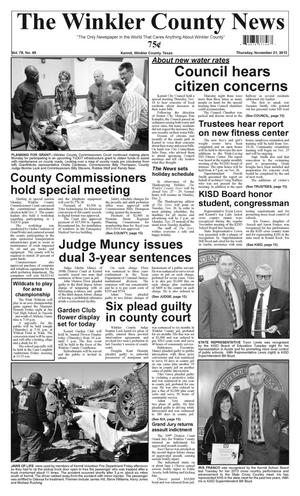 Primary view of object titled 'The Winkler County News (Kermit, Tex.), Vol. 78, No. 46, Ed. 1 Thursday, November 21, 2013'.
