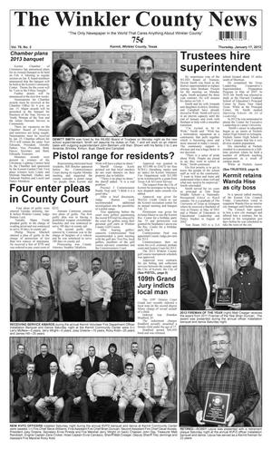 Primary view of object titled 'The Winkler County News (Kermit, Tex.), Vol. 78, No. 2, Ed. 1 Thursday, January 17, 2013'.