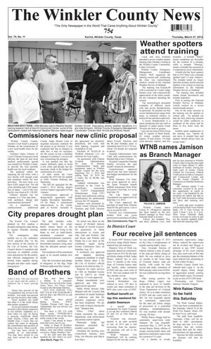 Primary view of object titled 'The Winkler County News (Kermit, Tex.), Vol. 79, No. 11, Ed. 1 Thursday, March 27, 2014'.