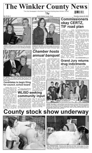 Primary view of object titled 'The Winkler County News (Kermit, Tex.), Vol. 79, No. 4, Ed. 1 Thursday, January 30, 2014'.