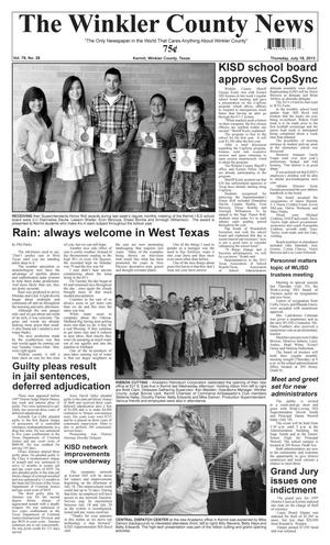 Primary view of object titled 'The Winkler County News (Kermit, Tex.), Vol. 78, No. 28, Ed. 1 Thursday, July 18, 2013'.