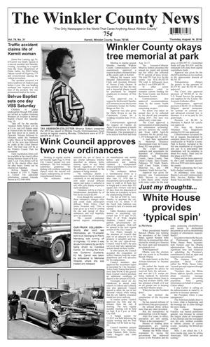 Primary view of object titled 'The Winkler County News (Kermit, Tex.), Vol. 79, No. 31, Ed. 1 Thursday, August 14, 2014'.