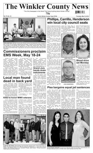 Primary view of object titled 'The Winkler County News (Kermit, Tex.), Vol. 79, No. 18, Ed. 1 Thursday, May 15, 2014'.