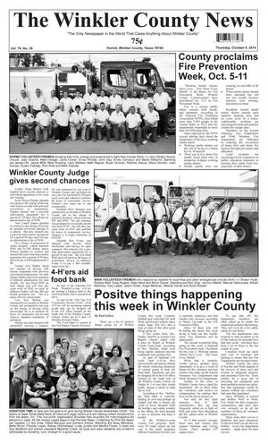 Primary view of object titled 'The Winkler County News (Kermit, Tex.), Vol. 79, No. 39, Ed. 1 Thursday, October 9, 2014'.